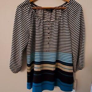 Elementz NWT Long Sleeve Striped Blouse - M